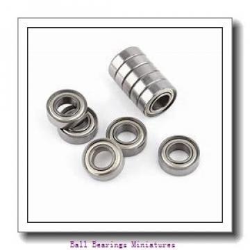 4mm x 9mm x 4mm  ZEN f684-2rs-zen Ball Bearings Miniatures