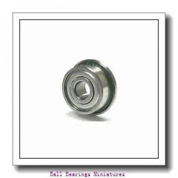 4mm x 9mm x 4mm  ZEN f684-2z-zen Ball Bearings Miniatures