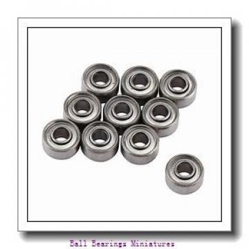 4mm x 7mm x 2.5mm  ZEN smf74-2z-zen Ball Bearings Miniatures
