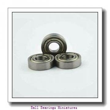 4mm x 12mm x 4mm  ZEN sf604-2z-zen Ball Bearings Miniatures