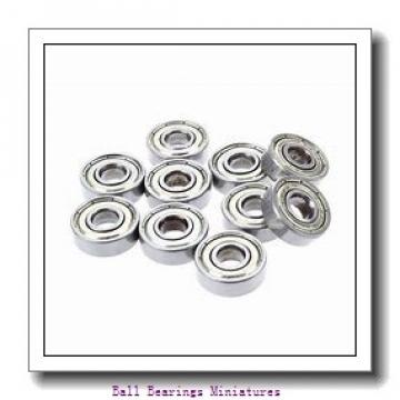 3.5mm x 9mm x 4mm  ZEN mr93x-2z-zen Ball Bearings Miniatures